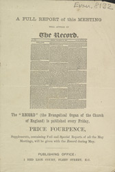 Advert For 'The Record', Periodical